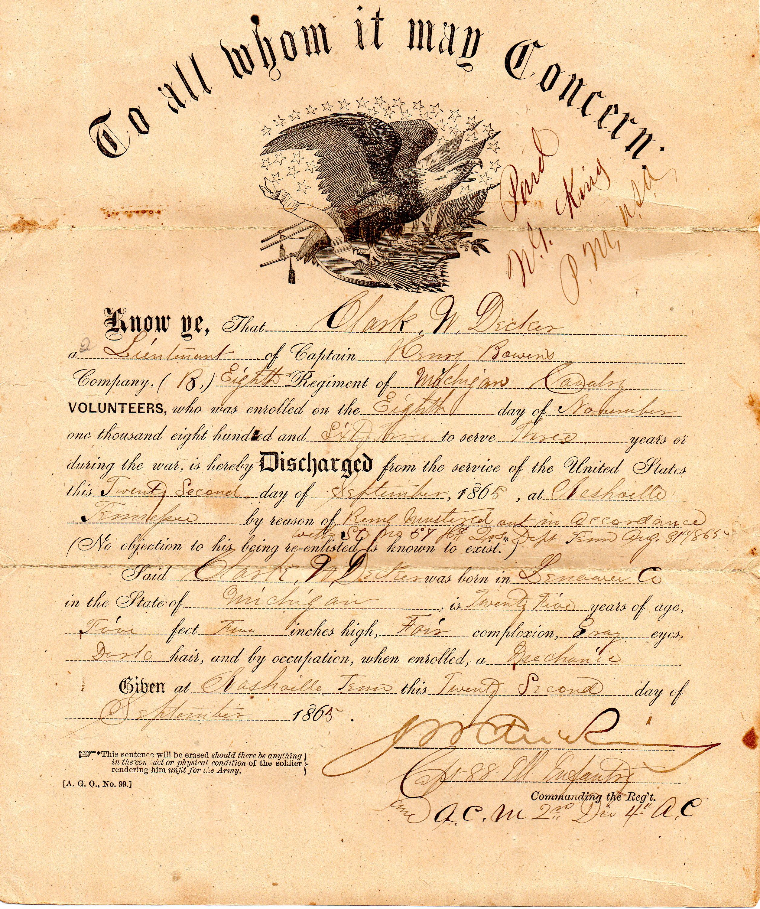 deckerjourney clark w decker With documents on the civil war