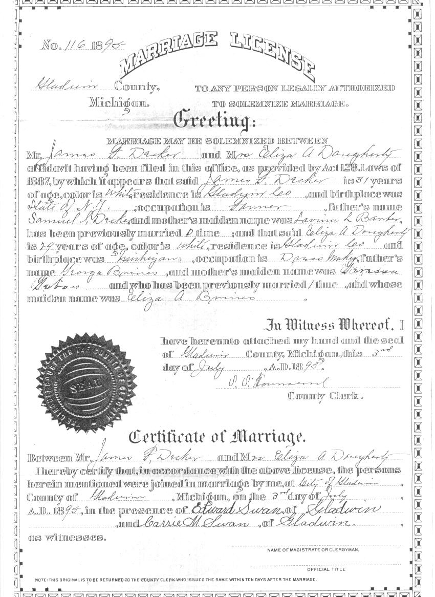 Obtaining A Marriage License In Michigan